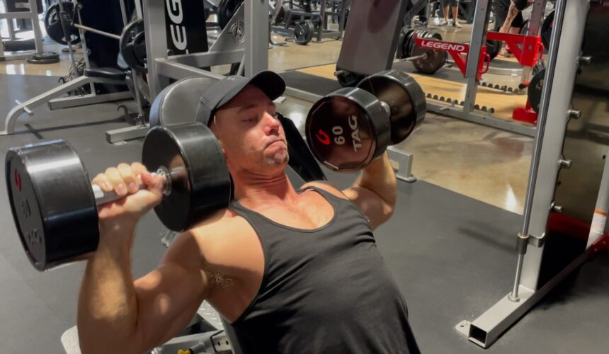 Logos Fitness: Crazy Dumbbell Chest Press!